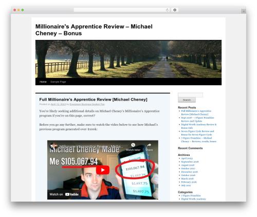 Twenty Ten free WP theme - evergreenbusinessystem.com