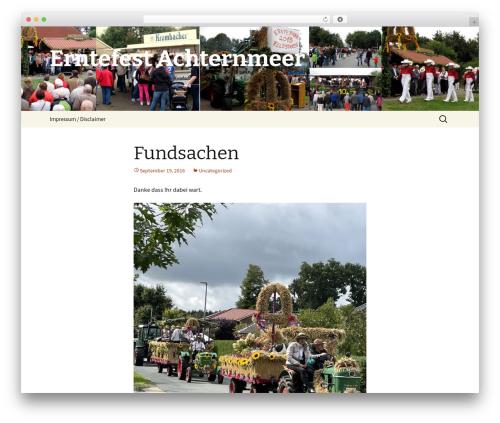 Twenty Thirteen WordPress template free - erntefest-achternmeer.de