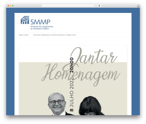 Twenty Twelve WordPress theme design - eventos.smmp.pt