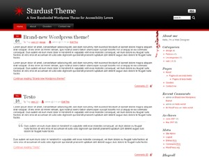 WordPress theme Stardust v1.0