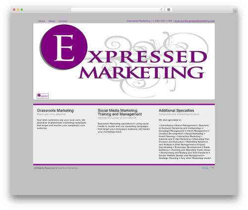 Andromeda WordPress theme - expressedmarketing.com