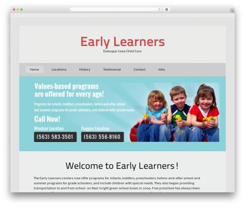 BizKit WordPress website template - earlylearners.us