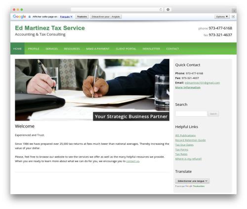 Customized template WordPress - edmartineztax.com
