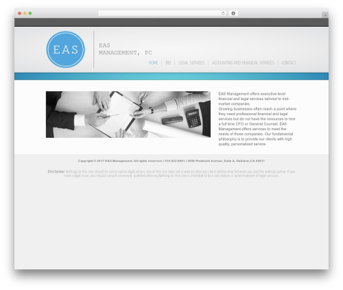 Inspire theme WordPress - easmgmt.com