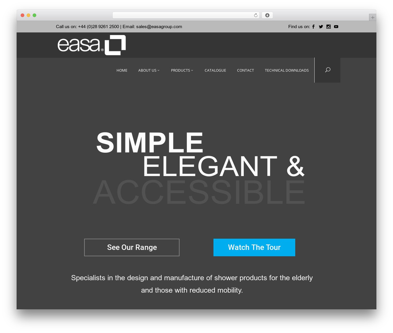 Oxides WordPress theme - easagroup.co.uk