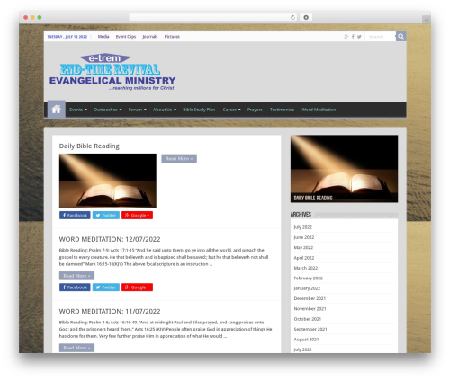 Sahifa (shared on wplocker.com) theme WordPress - e-trem.org