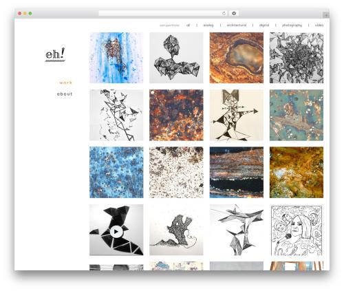 Stockholm WordPress website template - e-hoch.at