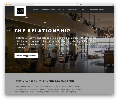 Suite premium WordPress theme - editsalons.com