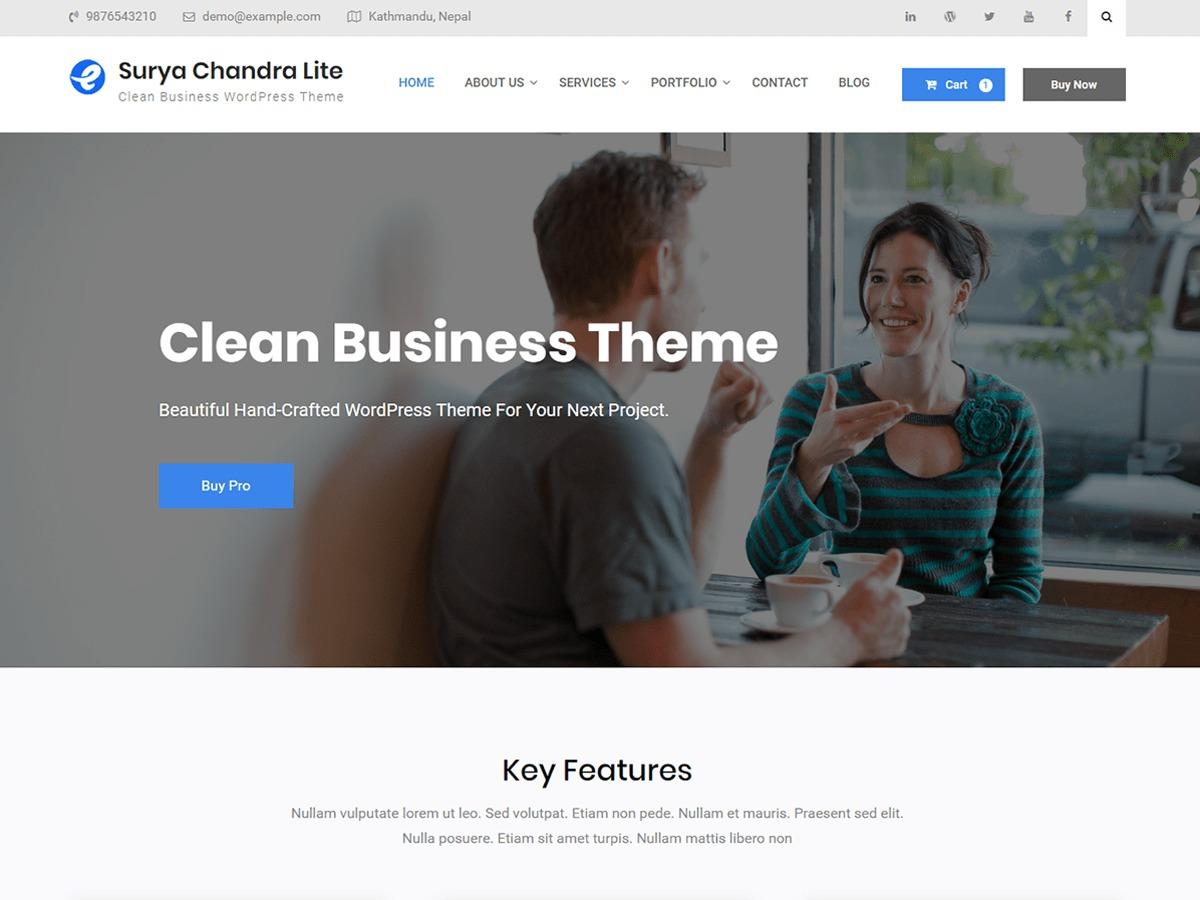 Surya Chandra Lite personal WordPress theme