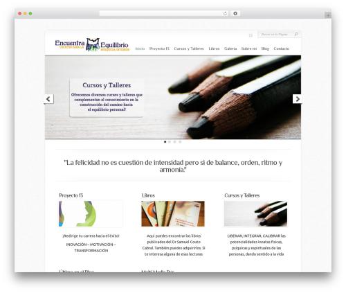 WordPress template Chameleon - encuentraequilibrio.com