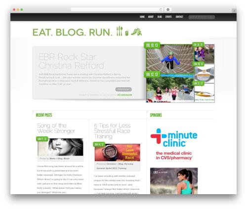 WordPress theme Delicate News - eatblogrun.com