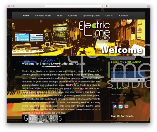 Free WordPress WP Header image slider and carousel plugin - electriclimerecords.com