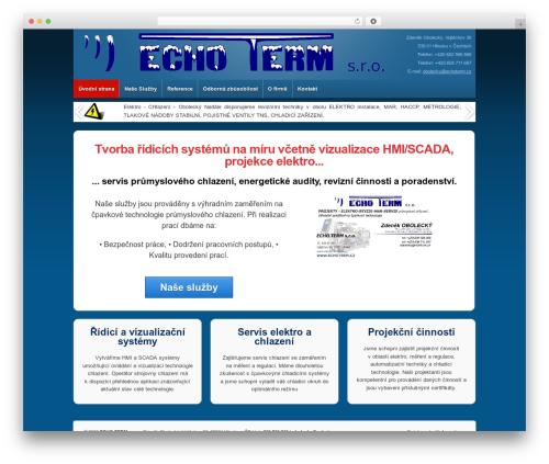 WordPress website template Responsive - echoterm.cz