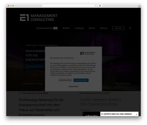 WP template Avada - e1-consulting.de