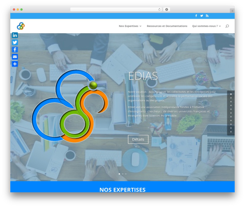 Divi WordPress page template - edias.fr