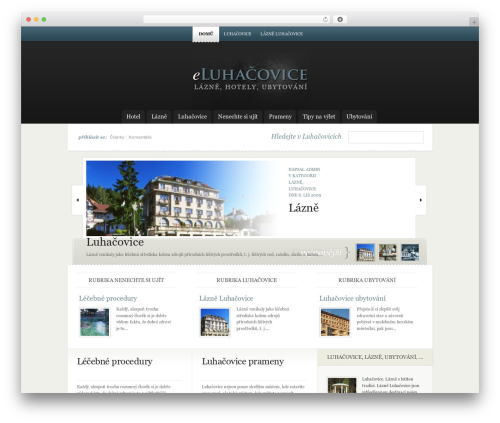 eNews WordPress news theme - eluhacovice.cz