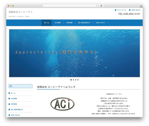 FSV002WP BASIC CORPORATE 01 (BLUE) WordPress page template - e-aci.jp