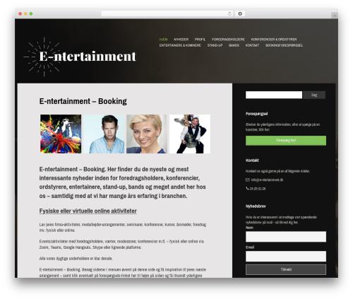 Gibson best WordPress theme - e-ntertainment.dk
