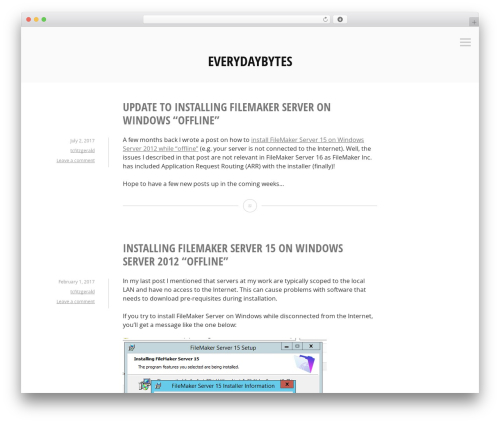 Minnow best WordPress template - everydaybytes.net