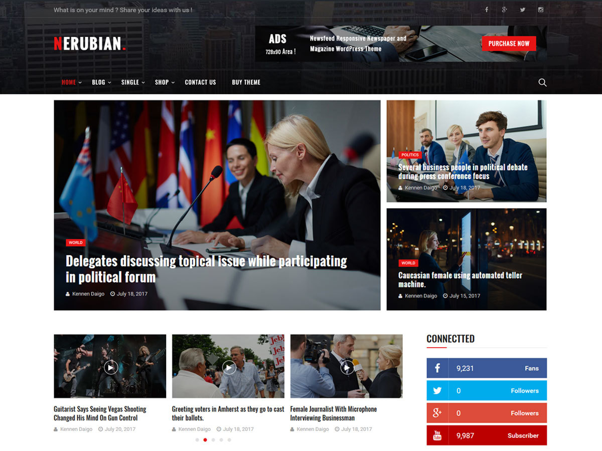 Nerubian WordPress blog theme