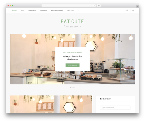 Smart Blog WordPress blog template - eatcute.fr