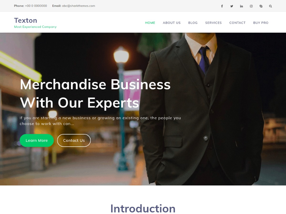 Texton WordPress template for business