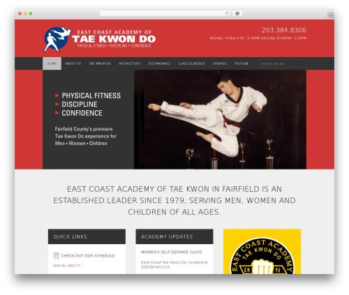 WordPress theme FITNESS-WP - ecatkd.com