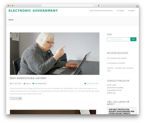 WordPress website template Avnii - electronicgovernment.se