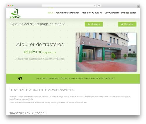 Avada WordPress theme - ecoboxspacios.com