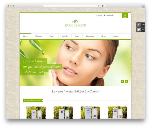 Organic Shop WordPress theme - ecobioshop.net