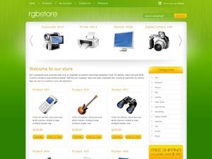 RGB Store Green WordPress ecommerce template