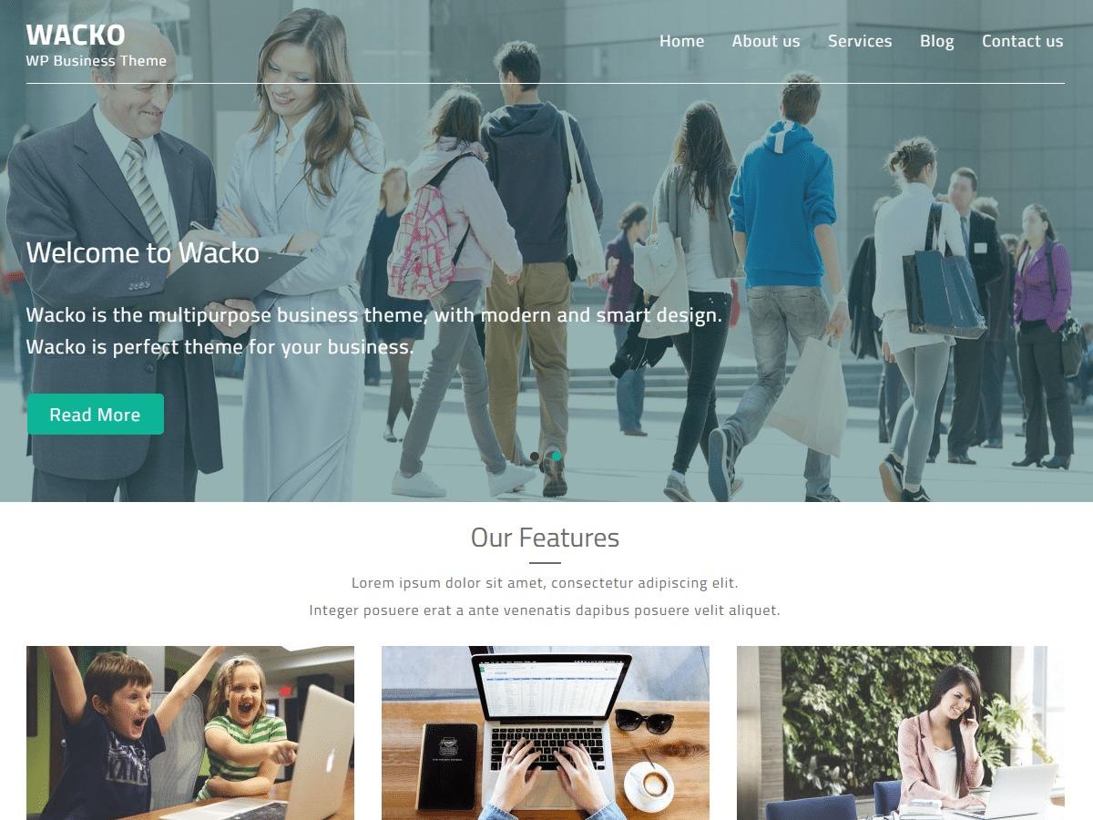Wacko company WordPress theme