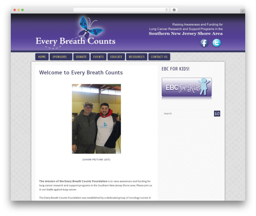 WordPress theme Cell - everybreathcounts.net