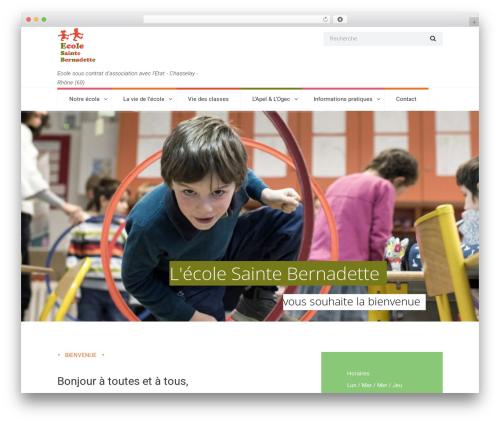 WordPress theme Kidsplanet - ecolesaintebernadette.com