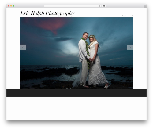 Albedo best wedding WordPress theme - ericrolph.com