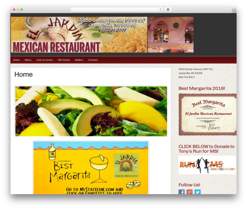 Builder WordPress restaurant theme - eljardinmexicanrestaurant.com