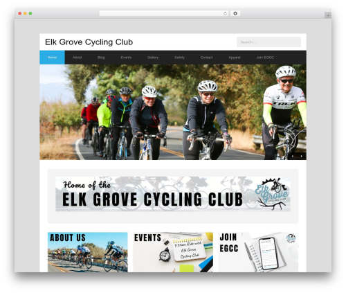 Corporate WordPress theme - elkgrovecyclingclub.com