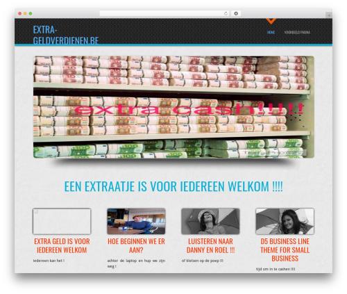 D5 Business Line best free WordPress theme - extra-geldverdienen.be