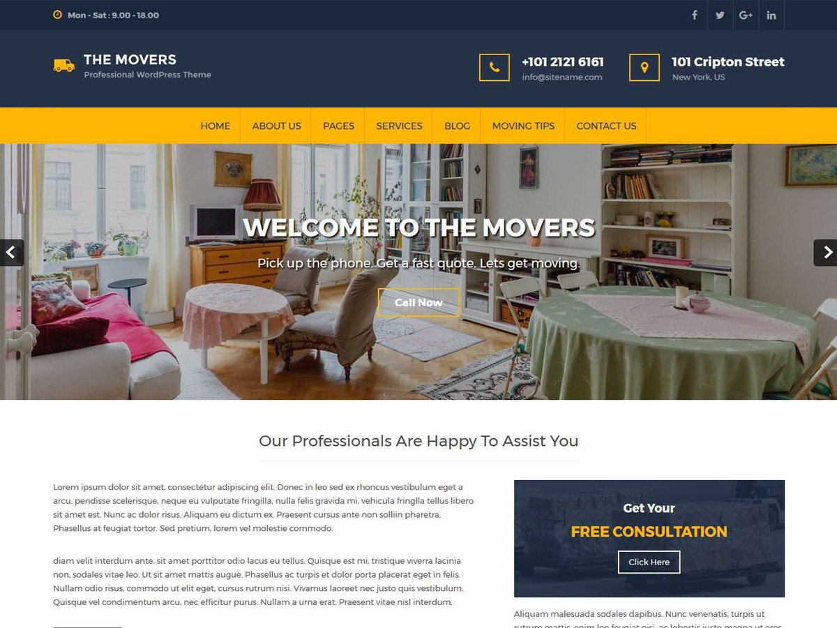 Movers Lite WordPress shop theme