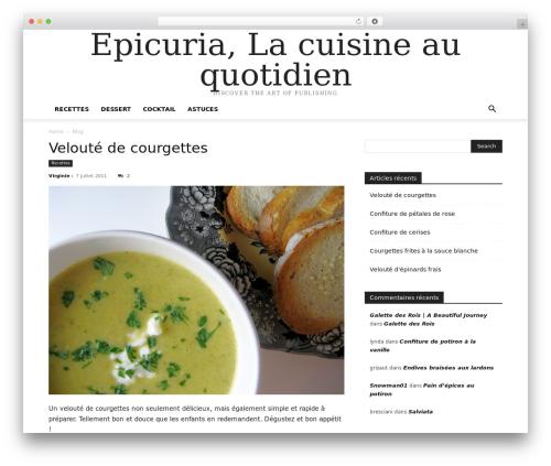 Newspaper newspaper WordPress theme - epicuria.fr