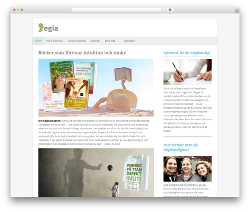 WordPress theme Fresh And Clean - egia.se