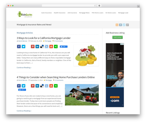 WP-Brilliance theme WordPress - ezratequotes.com