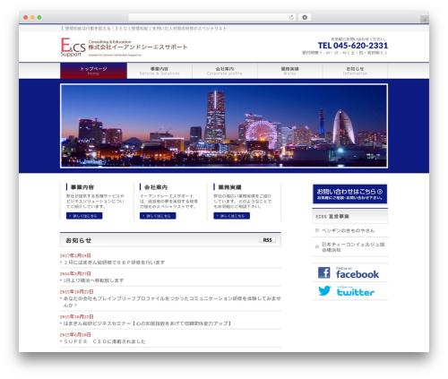 BizVektor top WordPress theme - e-cs-support.com