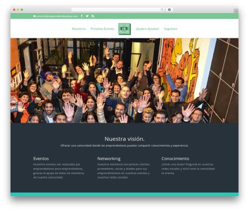 Divi template WordPress - emprendiendoba.org