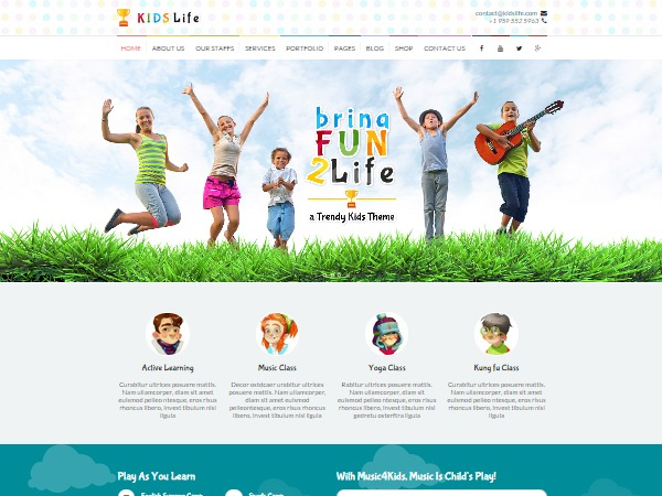 Kidslife WordPress website template