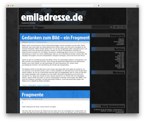 Ping WordPress theme - emiladresse.de