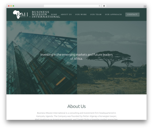 Revolution WordPress template for business - bmiafrica.com