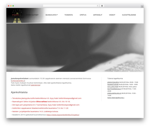 The7 WordPress theme - espoonkotikirkko.fi