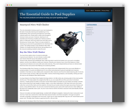 Affiliate Internet Marketing theme WordPress theme design - essentialpoolsupplies.com