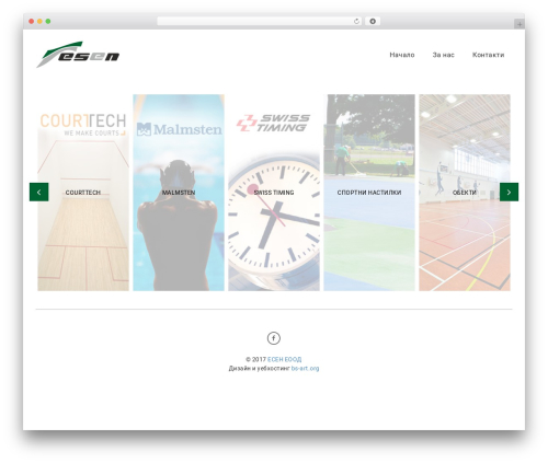 Architect top WordPress theme - esen.bg